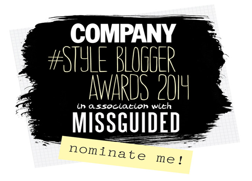 COMPANY STYLE BLOGGER AWARDS 2014 – NEWCOMER