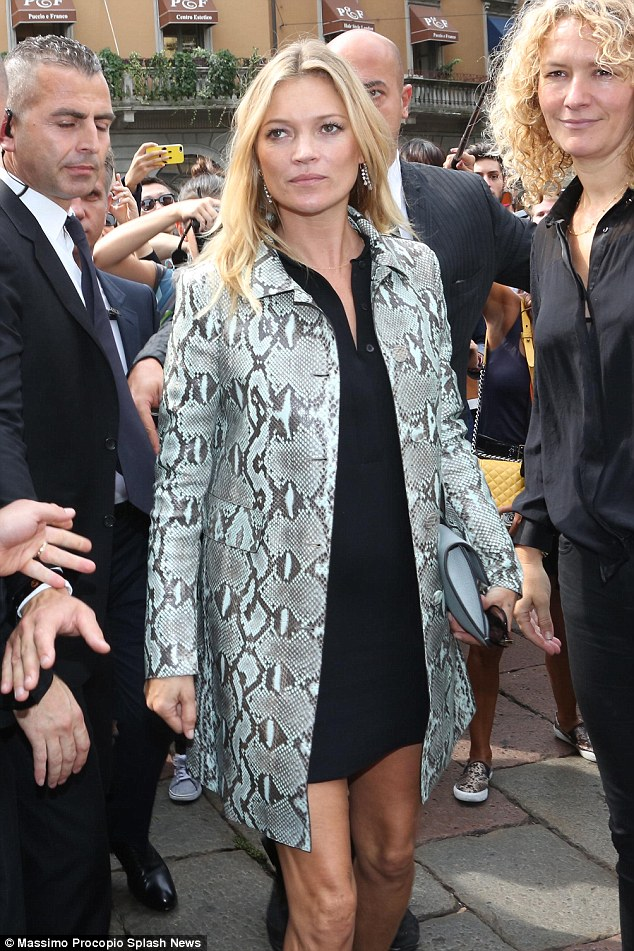 kate moss snakeskin coat