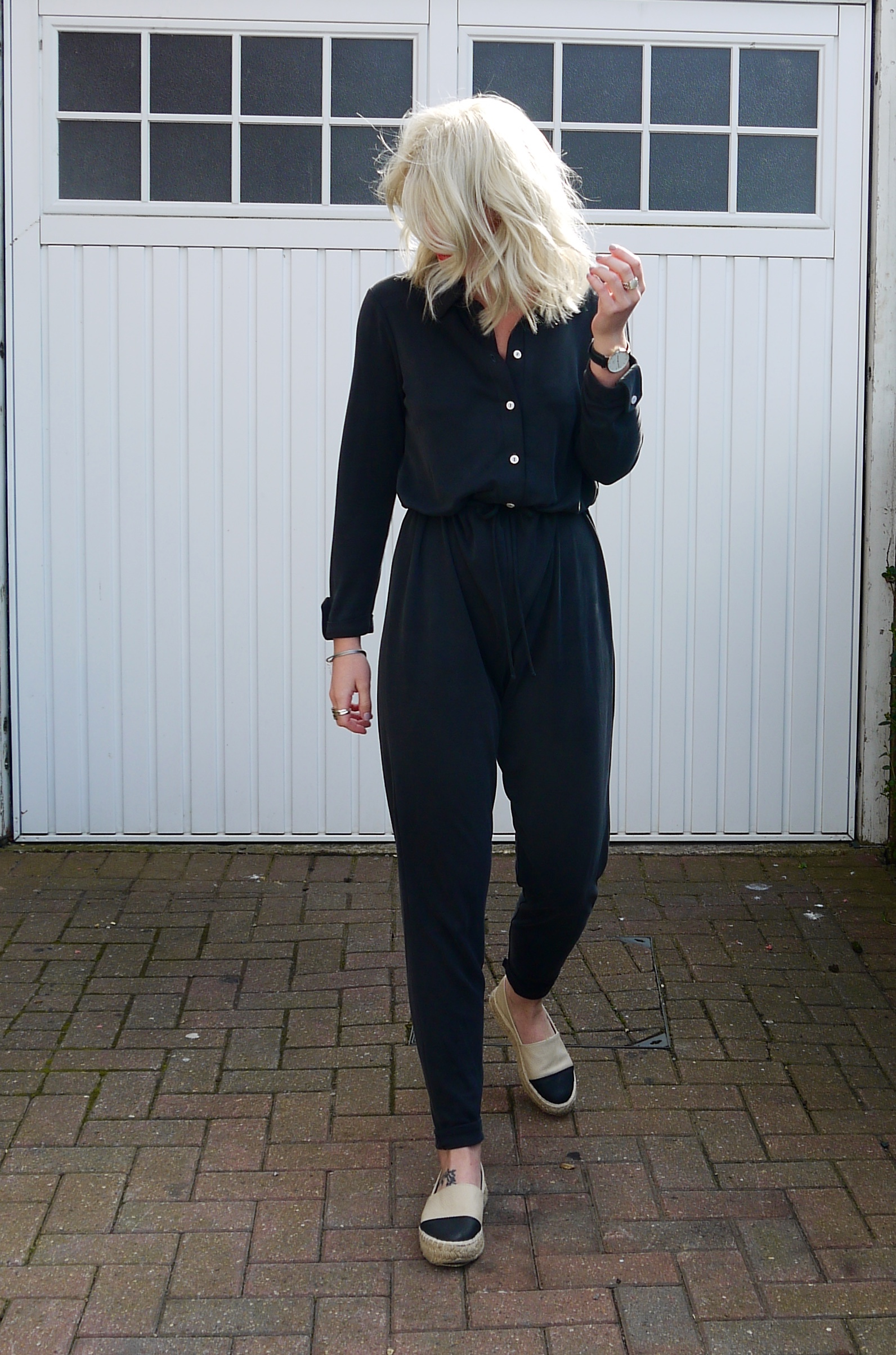 lipsy jumpsuit, black jumpsuit, laura byrnes, lauras  little locket,  lipsy long sleeve jumpsuit
