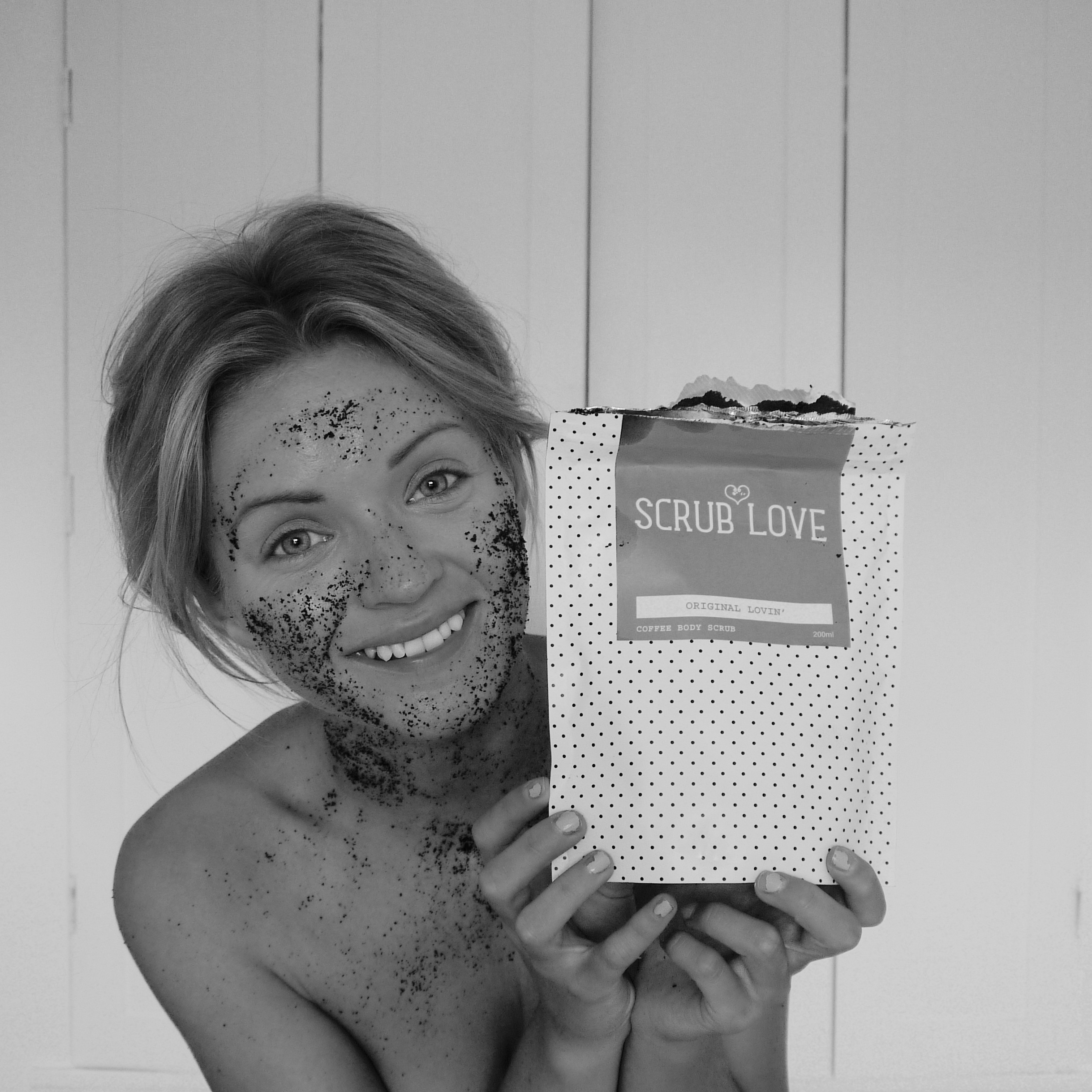 lauras little locket, laura byrnes, coffee scrub, scrub love