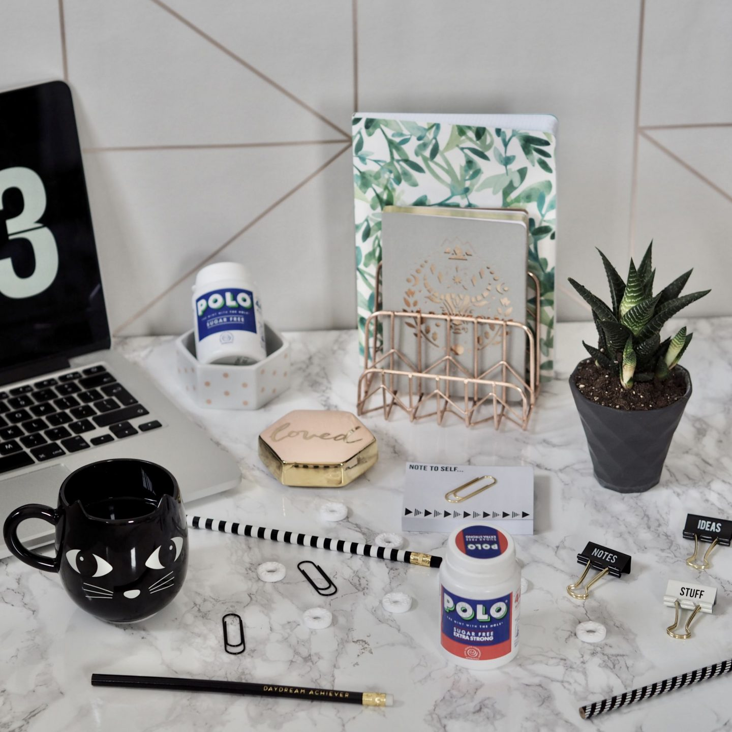 MY DESK ESSENTIALS WITH POLO